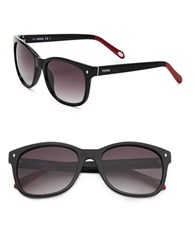 Fossil 55M Square Sunglasses Black