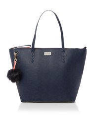Paul's Boutique The Limehouse Collection Navy Coral Tote Navy And Pink Navy And Pink