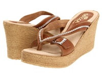 Sbicca Horizon Light Brown Women's Wedge Shoes Tan