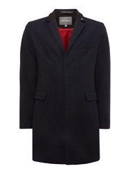 Peter Werth Cropley Trojan London Button Overcoat Navy