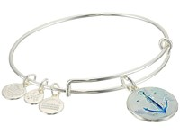 Alex And Ani Art Infusion Anchor Bangle Shiny Silver Bracelet Metallic