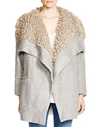 Free People Fleece Lined Wrap Coat Grey