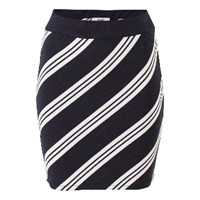 Bzr Black White Lith Stripe Skirt