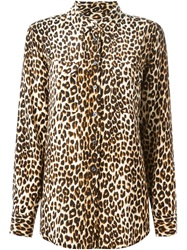 Equipment Leopard Print Shirt Nude And Neutrals