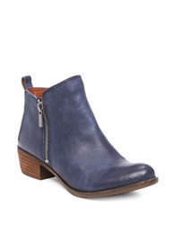 Lucky Brand Basel Printed Suede Booties Indigo Blue