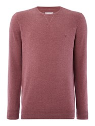 Peter Werth Bryson Fine Knitted Cotton Crew Neck Pink