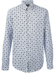 Fendi Monster Cat Print Shirt Blue