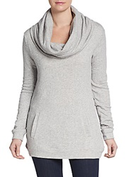 Saks Fifth Avenue Blue Cowl French Terry Tunic Grey