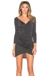Wyldr Paint The Town Wrap Dress Metallic Silver