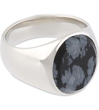 Tom Wood Oval Snowflake Silver Ring Snowflake Silver