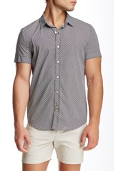 Parke And Ronen Biscayne Printed Short Sleeve Slim Fit Shirt Black