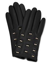 Ted Baker Ailara Bow Leather Gloves Black