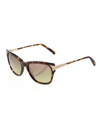 Jason Wu Golden Detail Square Sunglasses Dark Havana