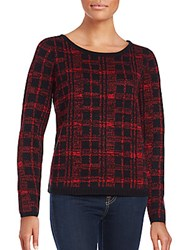French Connection Babysoft Long Sleeve Pullover Red Black