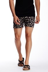Parke And Ronen Leopard Print Holler Short Brown
