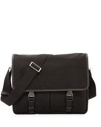 Prada Large Nylon Messenger Bag Black