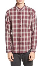Ezekiel Men's 'Fairmont' Trim Fit Plaid Woven Shirt Wine
