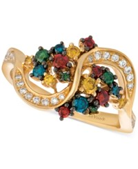 Le Vian Exotics Colorful Diamond Ring 5 8 Ct. T.W. In 14K Gold Yellow Gold
