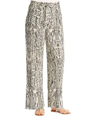 Jessica Simpson Lanay Ikat Wide Leg Pants Jungle