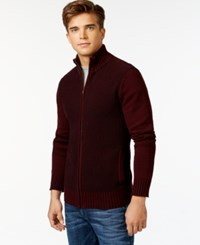 Guess Jason Zip Sweater Chambord Multi