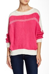 Wooden Ships Weekend Slouchy Sweater Pink