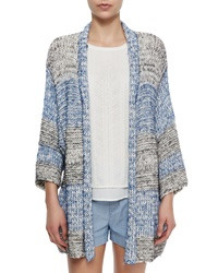 Vince Long Textured Open Knit Cardigan