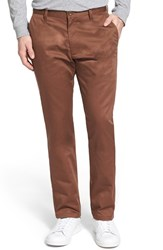 Men's Rvca 'The Weekend' Slim Straight Leg Chinos Cocoa