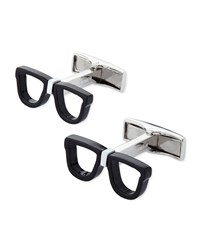 Nerd Glasses Cuff Links Black Cufflinks