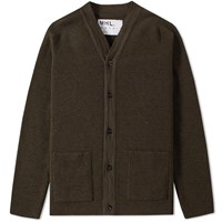 Mhl By Margaret Howell Mhl. Pocket Cardigan Green