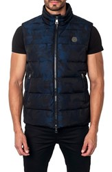 Jared Lang Men's Aspen Camo Down Puffer Vest Navy Camo