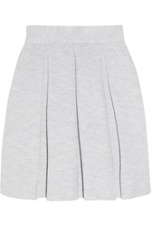 Markus Lupfer Pleated Cotton Blend Jersey Mini Skirt