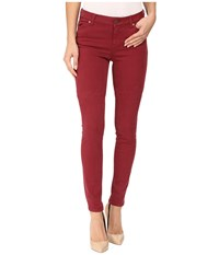 Liverpool Aiden Skinny In Wine Wine Women's Jeans Burgundy