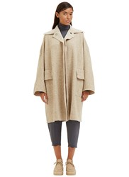 Boboutic Oversized Mantle 2 Flecked Knit Coat Beige