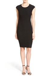 Women's Michael Michael Kors Sleeveless Crocodile Jacquard Sweater Dress Black