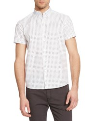 Kenneth Cole Slim Fit Cotton Shirt White Combo