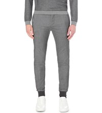 Hugo Boss Slim Fit Tapered Wool Blend Trousers Charcoal