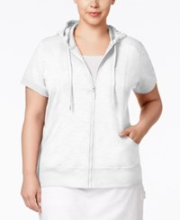 Styleandco. Style And Co. Plus Size Short Sleeve Hoodie Only At Macy's Bright White