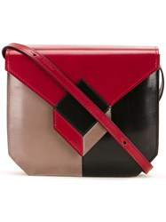 Pierre Hardy 'Prism' Shoulder Bag Red