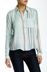 Lily White Plaid Woven Blouse No Color