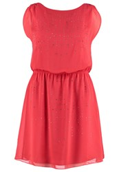 Naf Naf Lastrass Cocktail Dress Party Dress Coral