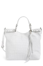 Etienne Aigner Croc Embossed Leather Tote