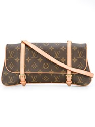 Louis Vuitton Vintage 'Marrelle' Clutch Brown
