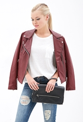 Forever 21 Oversized Faux Leather Clutch