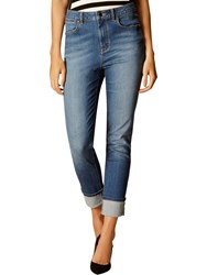 Karen Millen Turn Up Jeans Denim