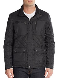 Urban Republic Quilted Pu Coated Jacket Black
