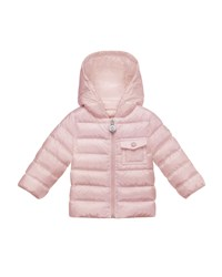 Moncler Milou Hooded Puffer Coat Pastel Pink Size 12M 3