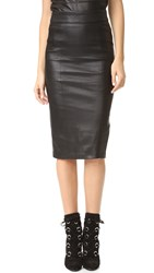 Mackage Lucille Leather Skirt Black