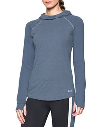 Under Armour Hooded Long Raglan Sleeve Pullover Purple