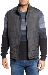 Tommy Bahama Men's Big And Tall Cavill Quilted Vest Grey Heather