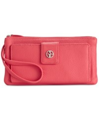 Giani Bernini Softy Grab And Go Leather Wallet And Wristlet Only At Macy's Deep Sea Coral